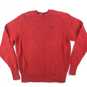 Vintage Polo red crew Sweater men's L Christmas